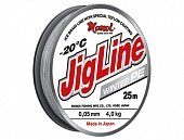 Шнур JigLine Winter 0,14 мм, 10 кг, 25 м, серый